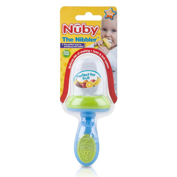 Nuby Baby Easy Grip And Squeez Feeding Garden Fresh Toddler Nibbler & Cover 10m+